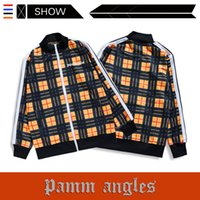 ingrosso controlli di logo-Il popolare logo europeo ed americano PALM ANGELS Jacket Casual Checked Print Jacket Stand Collar Mens Designer Jacket