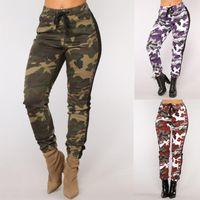 Wholesale pink camo resale online - Camouflage Joggers Women Sweatpants Camo Pants Drawstring Pantalones Mujer Loose Casual calça feminina Spring Trousers