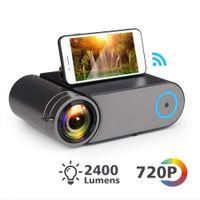 YG420 Mini LED 720P Projector Native 1280x720 Portable Wireless WiFi Multi Screen Video Beamer YG421 3D VGA HDMI Proyector YG550 Beamer