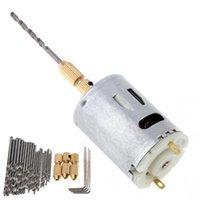 mini micro moteur électrique achat en gros de-12V DC perceuse à main mini moteur électrique bricolage perceuse à main avec Micro Twist et clé à vis hexagonale 4pcs