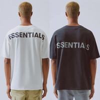 camisa reflexiva de algodão venda por atacado-2019 Hip Hop 6o Medo De Deus Essenciais 3 M Reflexivo Tee Skate Fresco Tshirt Nevoeiro Das Mulheres Dos Homens de Algodão de Manga Curta Casuais T Shirt