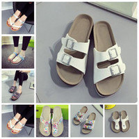 Summer Cork Sandals Beach Antiskid Slippers Casual Cool Slippers PU Leather Leisure Slipper Fashion Comfortable Sandalias Footwear TL395