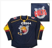 colts jerseys Canada - Real Men real Full embroidery Personalized Customize  Barrie Colts Hockey Jersey or e293bf952