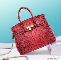 neue design platinkette großhandel-New Designer Design Einzelner Schulter Frauen S Kette Handtasche European American Bag Crocodile Ribbon Platinum