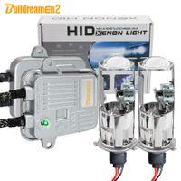 ingrosso fari fari x xenon h4-Buildreamen2 H4 mini proiettore Lens Hi / Lo Bi-Xenon HID Kit Xenon AC Ballast faro dell'automobile Alto Basso fascio 55W 4300K 6000K 8000K