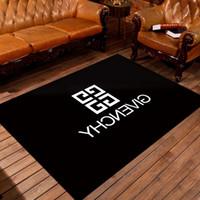ingrosso casa popolare-Tappeto di lusso lettera di alta qualità Tappeto popolare tappeto nero di stampa casa soggiorno comodino Decorare lavabile tappeto nuovo