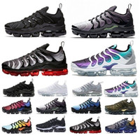 Wholesale pack man for sale - Group buy 2019 New Olive Mens Sneakers Plus Nylon Metallic White Silver Colorways Pack TN Triple Black Sports Men Running Shoes US