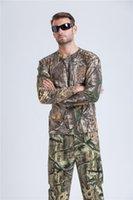 ropa de camuflaje gratis al por mayor-Camisa de caza de pato de secado rápido Camisa de caza de camuflaje de manga larga Ropa Envío gratis