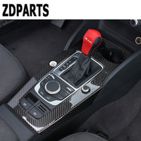 Wholesale stickers cars specials for sale - Group buy ZDPARTS Covers Special For A3 V Carbon Fiber Gears Shift Panel Decorative Trim Stickers Car styling Accessories