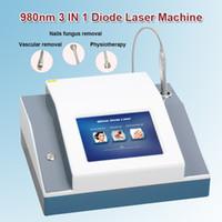 retrait de veine vasculaire achat en gros de-Élimination vasculaire laser ongle traitement fongique traitement par kinésithérapie beauté traitement beauté thérapie euipment 980nm diode laser