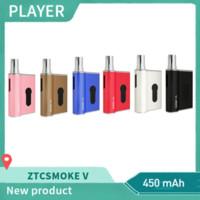миниатюрная батарея vape оптовых-100% оригинал ZTCSMOKE V-Mini Аккумулятор 450 мАч Густое масло мини-коробка коробка мод картридж e сигарета vape ручка Аутентичные