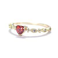 senhoras promessa anéis venda por atacado-New Rose Banhado Anéis De Ouro Para As Mulheres De Cristal Jóias Moda Banhado A Prata Anel de Casamento Promessa Anéis Femininos Para Senhoras Presentes