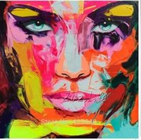 faca de pintura de óleo venda por atacado-A1HD58Palette faca retrato Face by Francoise Nielly, Pintados À Mão Abstrata Moderna Da Arte Da Parede Pintura A Óleo Sobre Tela Home Decor Multi tamanhos al