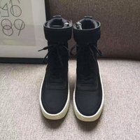 Wholesale ladies basketball boots resale online - 2019 men s brand name boots ladies bottines fashion luxury Fear of God fog running basketball shoes winter rain snow women s sports shoes