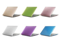 металлический корпус для ноутбука оптовых-Жесткий чехол для ноутбука с матовым металлом для Macbook Air 13 12 11 Новый MacBook Pro 13 15 с сетчаткой и сенсорной панелью