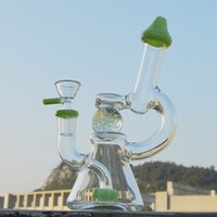 Wholesale heady ball rig for sale - Group buy Hot Heady Glass Bong Glow in the Dark Ball Dab Rigs Green Purple Oil Water Bong Wax Glass Beaker Bongs with mm Glass Bow DHL XL