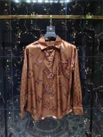ingrosso vestiti di moda americani-Camicia di plaid di auto-coltivazione del marchio americano di affari del 2018, camicia di vestito a strisce camicia di cotone a maniche lunghe di marca del progettista di moda # 77