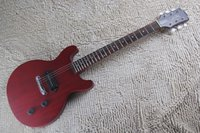 Wholesale hollow electric guitar pickup resale online - Top Quality G LP Custom Art HSTORC Junior P90 Pickup wine red CS Electric Guitar