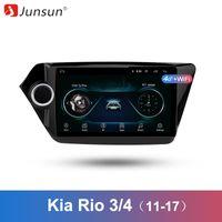 radio kia rio al por mayor-Junsun 2 Din Multimedia Video Player Android 8.1 Navegación GPS Radio WIFI OBD2 para KIA RIO 3 4 2011-2018 rio sedan no dvd slot car