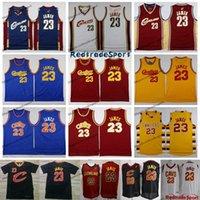 ingrosso cavs james-Maglie da basket vintage da uomo 23 Cleveland LeBron James Cavaliers a buon mercato blu rosso LeBron James CAVS camicia cucita