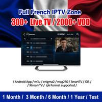 android smart tv hd box großhandel-IPTV-Abonnement Abonnement IPTV-Kanal Spanien Italien Portugal Arabisch Frankreich USA Latino IPTV-Code für Android-Box Smart TV Goophone iPhone X.