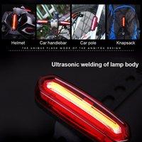 ingrosso usb della coda della bici-Luce posteriore da 120 Lumens LED Luce da ciclismo Luce USB per bicicletta MTB Bike USB Ricaricabile a Led per fanale posteriore Accessori per bici