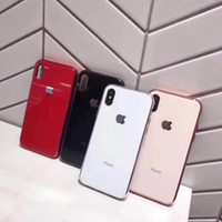 Wholesale Luxury Glass electroplate Case for Apple iPhone Pro Max X Plus XS XR Max Cases i7 Plus Plus s Protection Cover