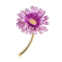 Wholesale pin sunflower online - 2019 New Sunflower Brooch Pin for Party Cute Enamel Pins and Brooches for Women Trendy Brooches Badge for Clothes