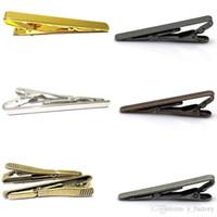 krawatte krawatte großhandel-Mode Krawattenklammern Metall Einfache Krawatte Krawattennadel Clip Clamp Pin für Männer Geschenk Hochzeit Business Clips