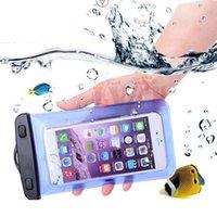 ıp68 cep telefonu toptan satış-Cep telefonu Kuru vaka kol telefonu Koruyucu kapak kız erkek spor su geçirmez kılıf ip68 iPhone 6 S Samsung Galaxy S7 HTC vb
