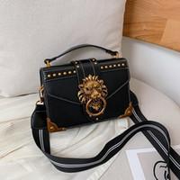 Wholesale head purse for sale - Group buy Female Fashion Handbags Popular Girls Crossbody Bags Totes Woman Metal Lion Head Brand Shoulder Purse Mini Square Messenger Bag