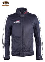 Wholesale motorcycle mesh jacket for sale - Group buy Bike gp jk motorcycle jacket summer racing clothes waterproof lining mesh breathable send pieces of protection