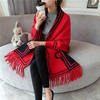 ingrosso sciarpe a maglia per la molla-Lady righe Tassel Scialle 29 disegno di alta qualità Maglione Cardigan donne di lusso del progettista sciarpa scozzese Giacca Mantello maternità Maglioni 06