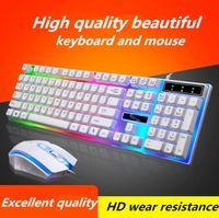 teclado leopardo al por mayor-Chasing light leopard G21 usb light mouse y teclado configurados por computadora sensación mecánica, teclado y mouse retroiluminados
