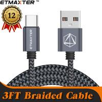 cables de cargador usb universales al por mayor-Un año de garantía 1M 3FT Cable USB trenzado rápido Cable tipo micro cargador para iPhone Samsung con un exquisito paquete minorista