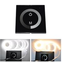 dimmer ışık eve geçer toptan satış-Edison2011 Led Dimmer DC12V Dokunmatik Panel Dimmer Anahtarı DC12-24V Led Şerit RGB Led Işıkları Için, ampuller Ev Lambaları Dim