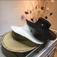 ingrosso blocco design-Cappello di design nuovo cappello di paglia classico moda semplice stile elegante eaves cappello di alta qualità cappelli estivi sole
