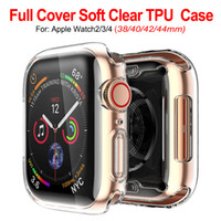 Wholesale ultra slim smart watch resale online - Ultra Slim Transparent Clear Soft TPU Rubber Silicone Protective Cover Case For Apple Watch Series mm mm mm mm