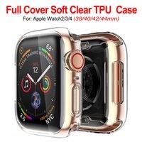 ultra slim smart watch großhandel-Ultra slim transparent klar weich tpu gummi silikon schutzhülle für apple watch serie 4 3 2 1 40mm 44mm 38mm 42mm