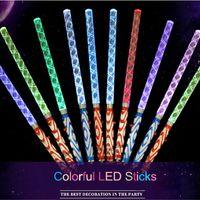 jouet led led achat en gros de-Party LED clignotant Baguette / LED Light Up / Stick Glowing Patrol Clignotant Concert Party Favors jouets lumineux décoration de fêtes