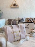 sacos de compras de papel simples venda por atacado-2020 nshoulder moda lona saco de luxo bolsa o mais recente saco de compras cor sólida de alta qualidade de design forma única de compras sacos
