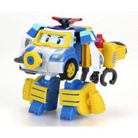 estradas plásticas para carros de brinquedo venda por atacado-Silverlit Transform Diver Robocar POLI manual de Deformação Car Dessin Animé Robot Car Poli Deformação Criança dos desenhos animados Toy Boy 3-6T 06
