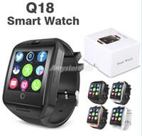 наручные часы gsm оптовых-Мода наручные часы Bluetooth Smart Watch Q18 Мини-камера для Android iPhone Samsung смартфоны GSM SIM-карты