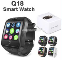 Wholesale Fashion Wristwatch Bluetooth Smart Watch Q18 Mini Camera For Android iPhone Samsung Smart Phones GSM SIM Card