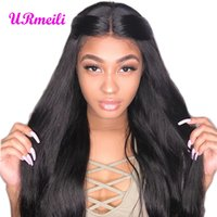 Wholesale lacefront human hair lace front wigs resale online - full Lace Front Human Hair Wigs For Black Women Lace Frontal Wig With Baby Hair lacefront wigs Brazilian Human Straight Hair Wigs
