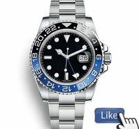 relógios de homem venda por atacado-Luxo GMT Cerâmica Bezel Mens Mecânico de Aço Inoxidável Movimento Automático Assista designer de Esportes Auto-vento homens Relógios Relógios De Pulso Btime