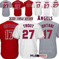 chandails de baseball pour hommes achat en gros de-Maillots de Los Angeles Ange 27 Mike Trout 17 chandail de conception de chandail de Baseball Shohei Ohtani 18/19