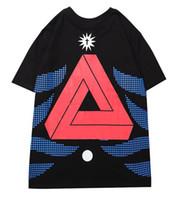 camisetas de palacio al por mayor-Diseñador camiseta para hombre de Nueva Jersey de cuello de moda camisetas Impresión Triángulo Modelo de la camiseta Contraste Comfort Algodón Color camisetas de las camisetas palacios