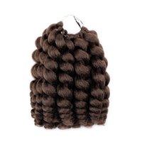 ombre kıvırcık saç toptan satış-Nicole Saç Jumpy Değnek Jamaika Sıçrama Curl Tığ Saç Tığ Örgüler Saç Uzantıları Ombre 20 tellerinin Kanekalon Örgü