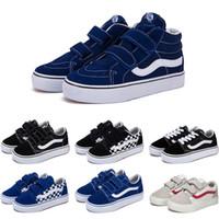 çocuklar için tasarımcı ayakkabıları toptan satış-vans 2019 Tasarımcı Orijinal eski skool sk8 hi çocuklar ayakkabı erkek kız bebek ayakkabı tuval sneakers Çilek moda paten rahat ayakkabılar boyutu 22-35